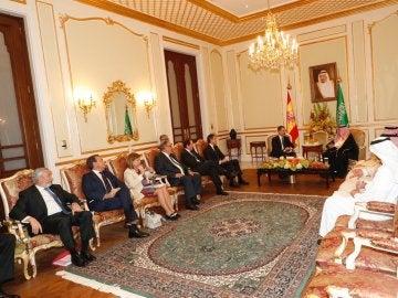 Desayuno oficial con el rey de Arabia Saudí