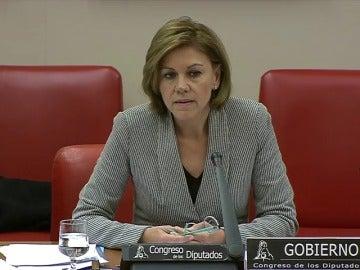 """Frame 23.342208 de: Cospedal pide """"perdón a las víctimas"""" del Yak 42 por no reconocer con anterioridad """"la responsabilidad del Estado"""""""