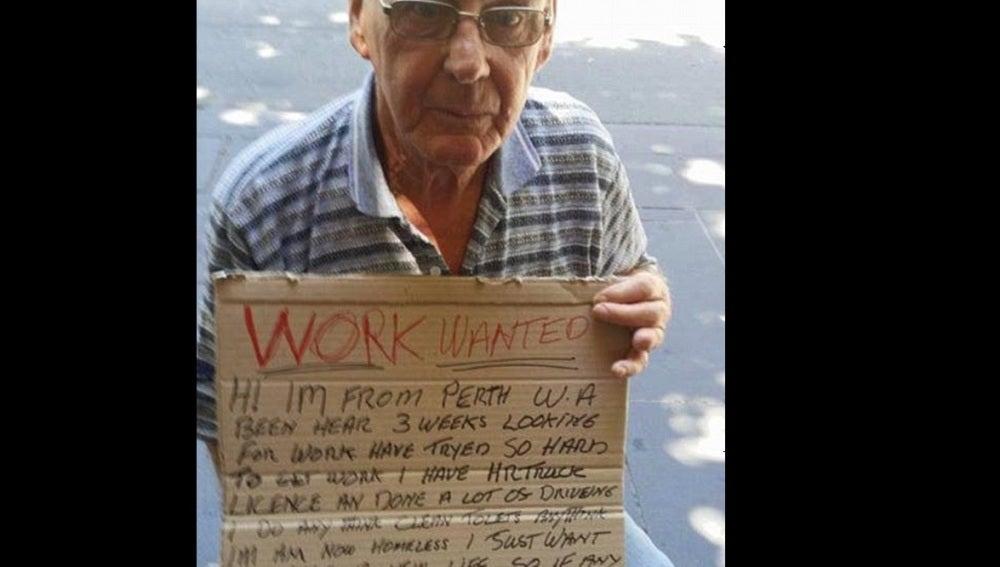 Barry, el hombre que ha encontrado trabajo