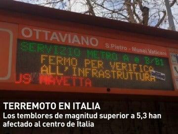 Frame 18.210549 de: Una cadena de tres terremotos golpea el centro de Italia