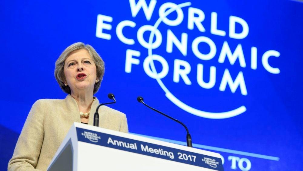 Theresa May en el Foro Económico Mundial de Davos