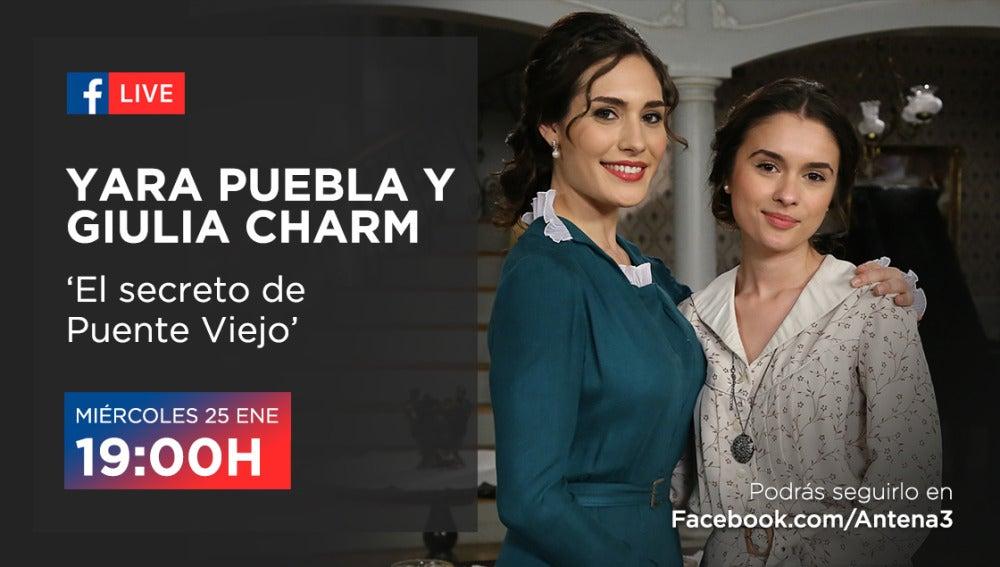Celebramos los 1.500 capítulos junto a Yara Puebla y Giulia Charm con un Facebook Live