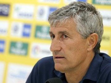 Quique Setién, entrenador de la UD Las Palmas