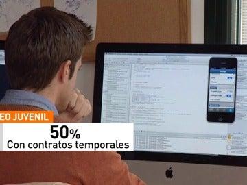 Frame 59.256263 de: Cuatro de cada diez jóvenes en España están en riesgo de pobreza o exclusión social