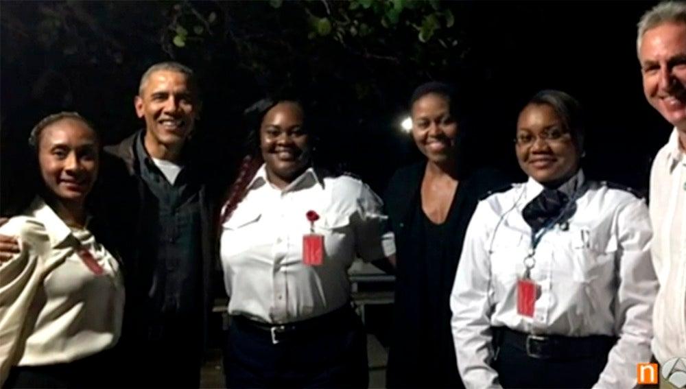 Barack Obama y Michelle de vacaciones