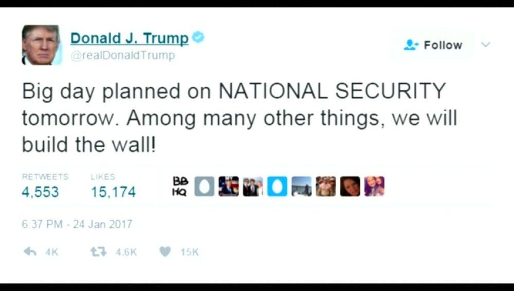 Frame 22.613859 de: Donald Trump aprueba este miércoles la construcción del muro en la frontera con México