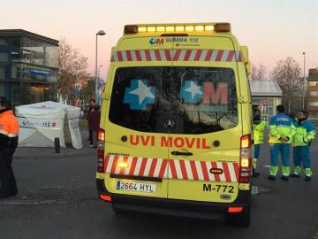 Una ambulancia del Summa en Getafe