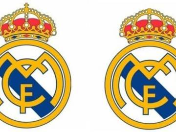 El escudo del Real Madrid con y sin cruz