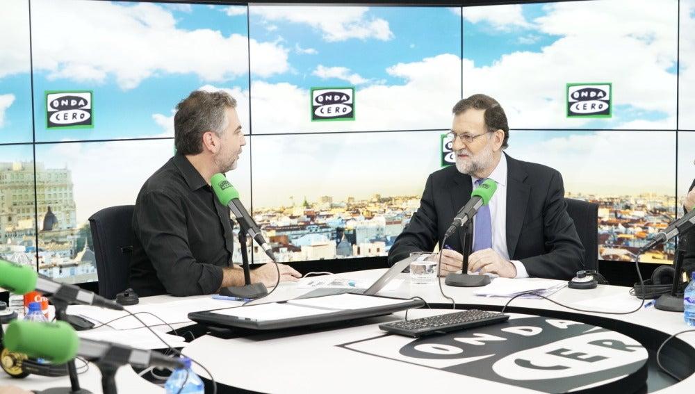 Mariano Rajoy en su entrevista con Carlos Alsina