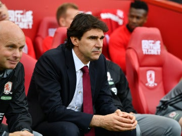 Karanka en un partido con el Middlesbrough