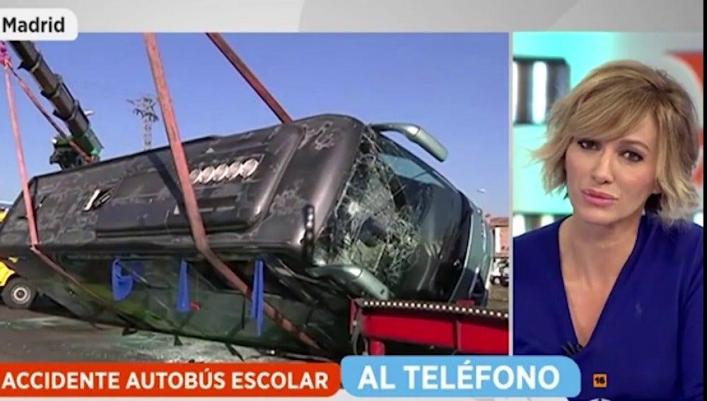 """Frame 193.324444 de: La madre del conductor del autobús escolar siniestrado en Fuenlabrada: """"Ha sido un falso positivo, consumió el viernes"""""""