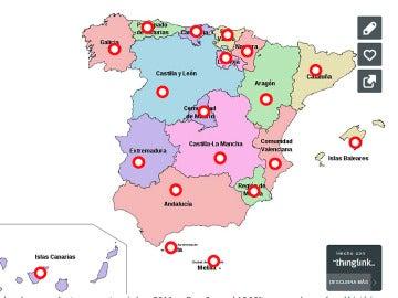 Mapa del abandono escolar temprano por CCAA