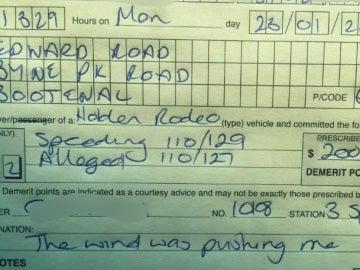 La multa a la mujer