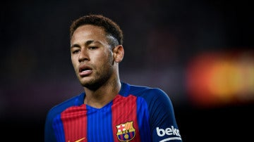 Neymar durante un partido contra el Barcelona