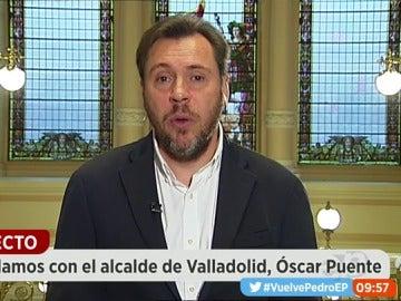 """Frame 514.477624 de: Óscar Puente: """"Si Patxi López se ha presentado sin contar con Sánchez puede que no piense en ganar, sino en otras cosas"""""""