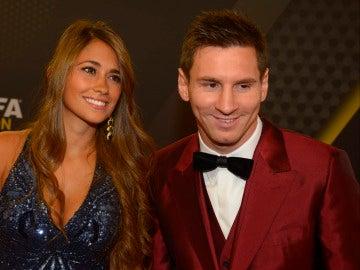 Leo Messi y Antonella Roccuzo