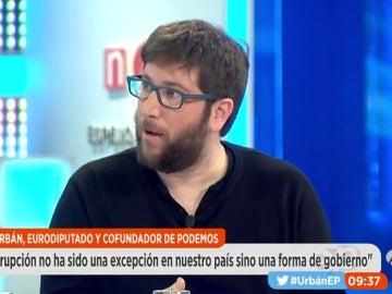 """Frame 1049.128816 de: Miguel Urbán: """"Pablo Iglesias no va a dimitir, no puede dimitir y no tiene que dimitir"""