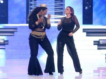 Chenoa y Lolita valoran la actuación de Rosa con un baile muy sensual