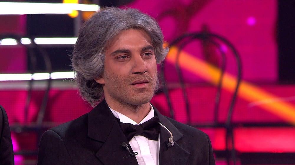 Blas Cantó, emocionado tras imitar a Andrea Bocelli