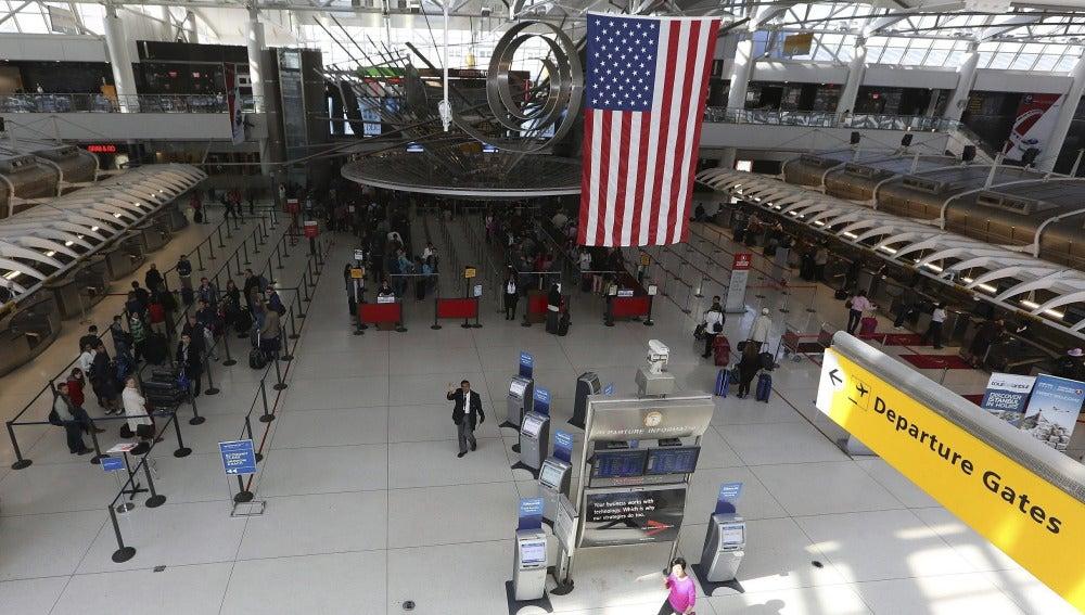 Vista general del aeropuerto de John Fitzgerald Kennedy (JFK) de Nueva York