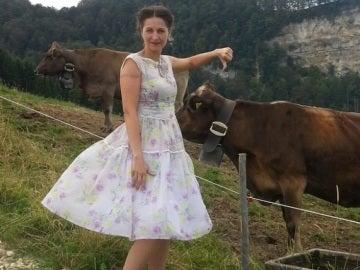 Nancy Holten en una imagen en la montaña