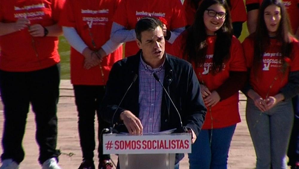 Pedro Sánchez en Dos Hermanas