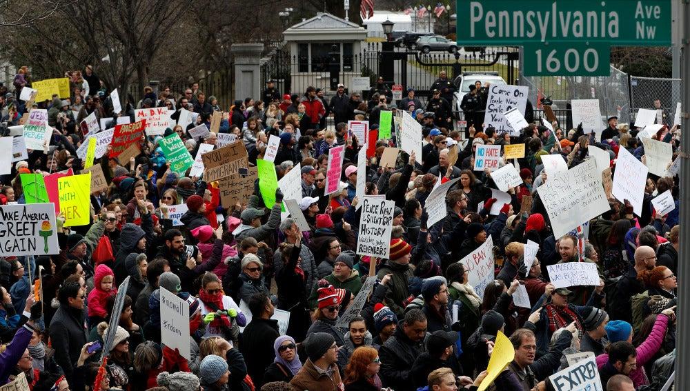 Manifestaciones por el decreto anti-musulmanes de Trump