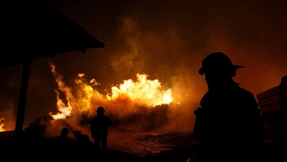 Ola de incendios en Chile
