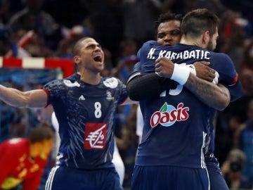 Francia celebra el Mundial de balonmano