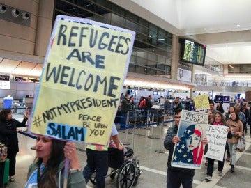 Protestas en los aeropuertos estadounidenses