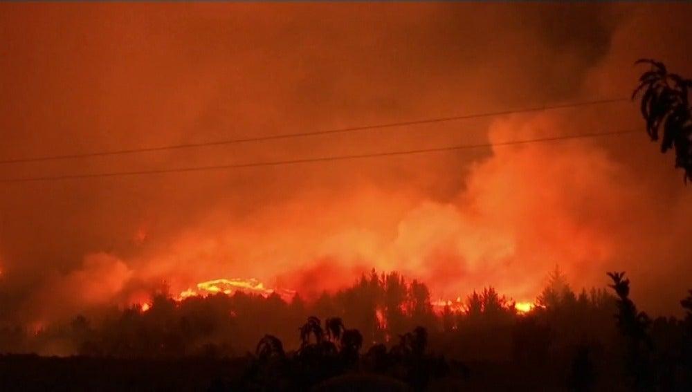 Frame 1.167256 de: El fuego no da tregua en Chile
