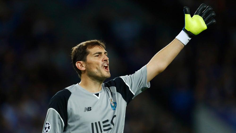 Iker Casillas, en un partido con el Oporto