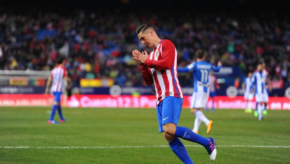 Fernando Torres, ante el Leganés