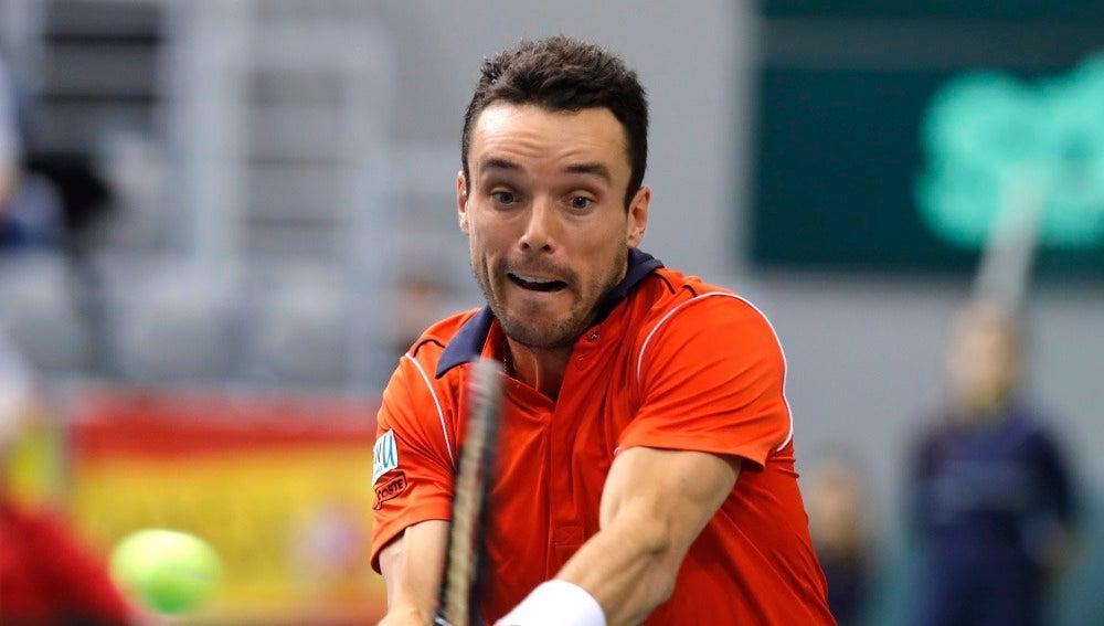 Roberto Bautista, en la eliminatoria ante Croacia