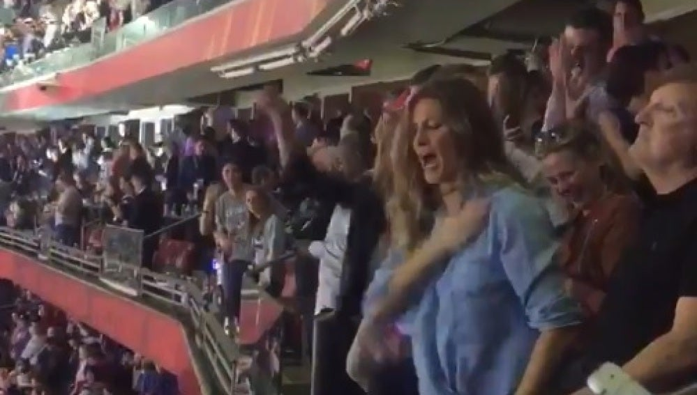 Gisele Bundchen celebra por todo lo alto la Super Bowl