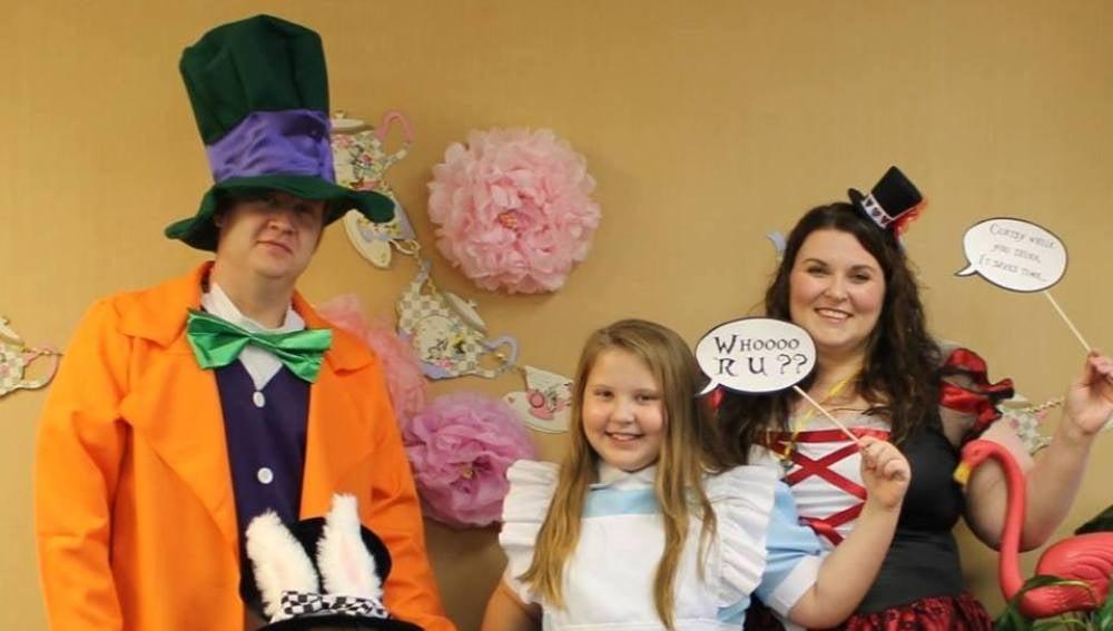 Familia Boshers en la fiesta de cumpleaños