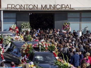 Funeral por los cinco jóvenes que fallecieron la madrugada del domingo en un accidente de tráfico en Cartagena