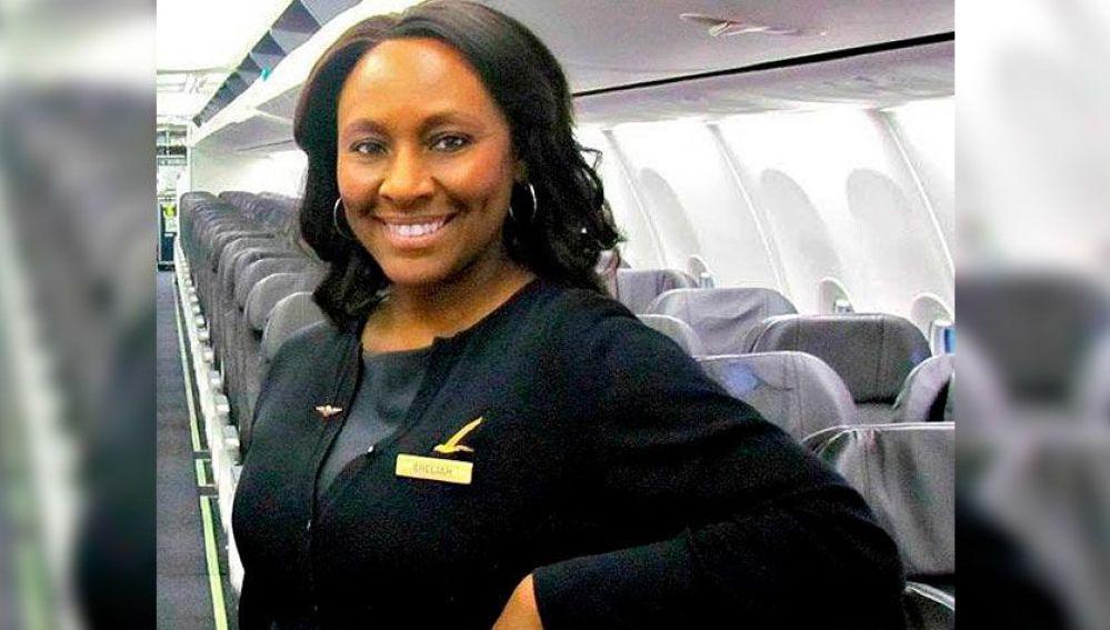 Shelia Fedrick, auxiliar de vuelo de Alaska Airlines
