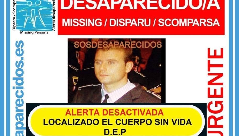 David Llopis, el agente de la Policía Local de Parla desaparecido