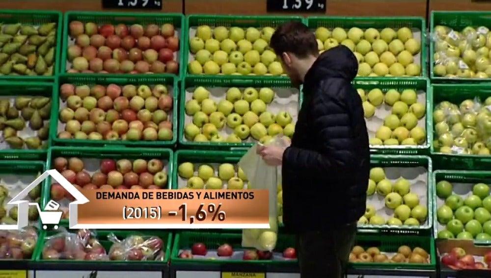 Frame 9.581751 de: Las ventas de gran consumo caen el 1,6 % por un mayor gasto fuera del hogar