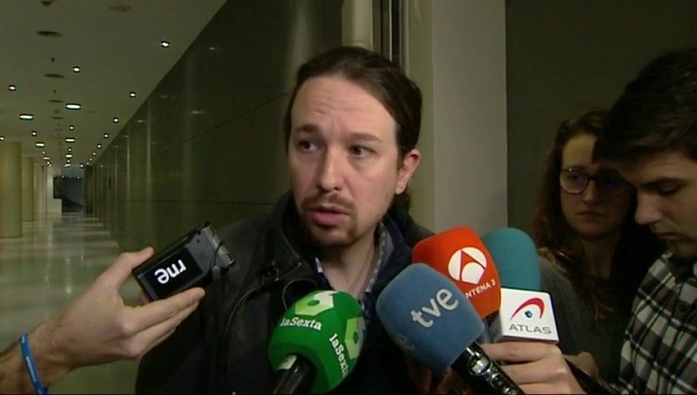"""Frame 15.598651 de: Pablo Iglesias: """"Es gravísimo que se le juzgue por poner urnas"""""""