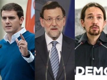 Fernández, Rivera, Rajoy e Iglesias