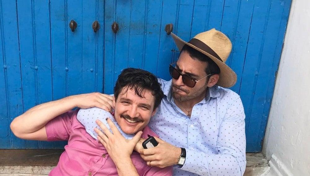Buen rollo en el rodaje de 'Narcos'