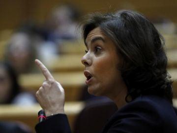 Soraya Sáenz de Santamaría en el Senado