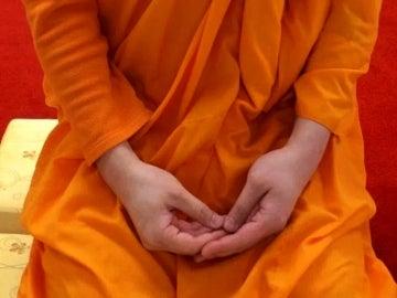 Imagen de archivo de un monje budista