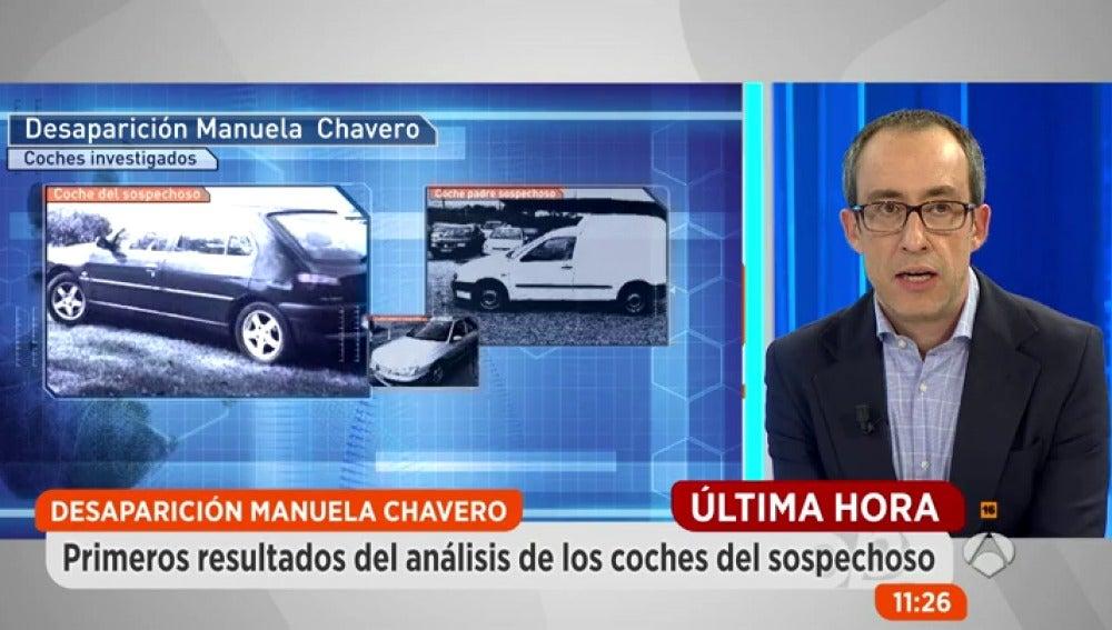 Frame 60.112 de: Criminalística ya investiga las muestras recogidas de los coches del sospechoso de la desaparición de Manuela Chavero