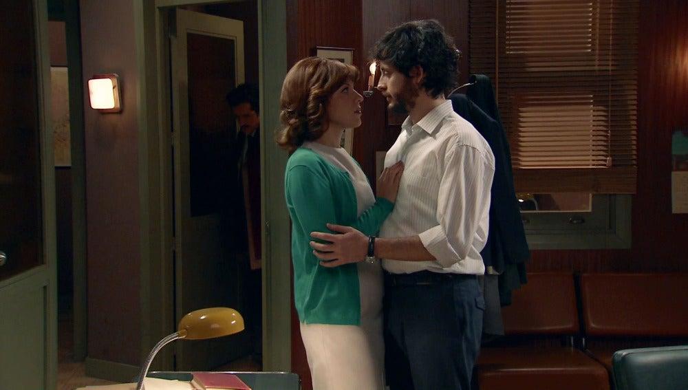 Pallarés irrumpe un momento muy cercano entre Nuria y Jaime