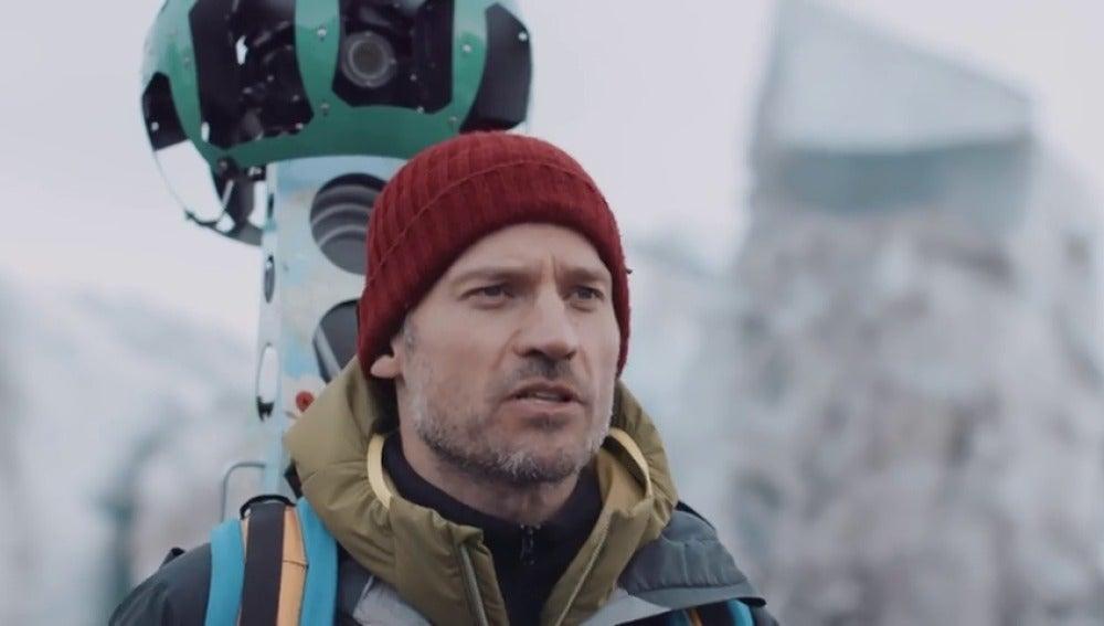 Frame 98.829692 de: Nikolaj Coster-Waldau denuncia el cambio climático fotografiando el paisaje cambiante de Groenlandia