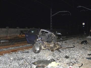 Accidente en un paso a nivel en Palencia