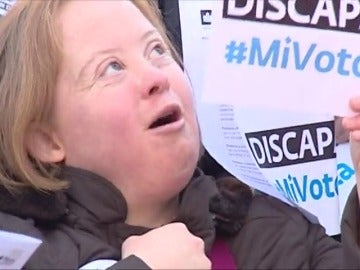 Cientos de personas se manifiestan para exigir el derecho a voto de las personas con discapacidad intelectual